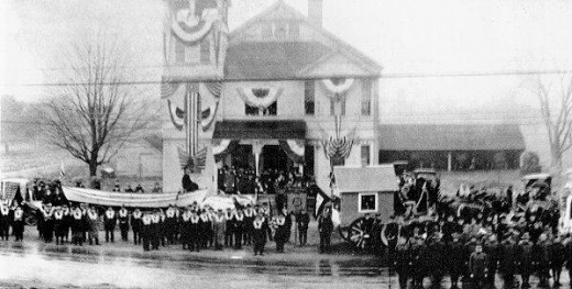 Armistice Day 1919 -- one of countless parades and ceremonies across the United States.