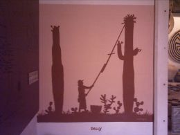 Picture of a Drawing on display in the old San Xavier Mission on the Tohono O'odham Nation's San Xavier Reservation adjacent to Tucson, AZ