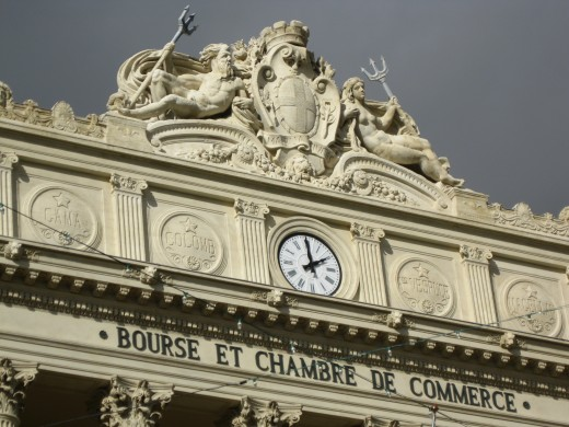 Artwork on top of Bourse