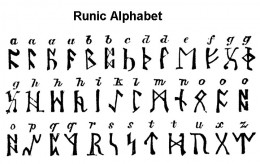 Runic Alphabet Lettering Coloring Page