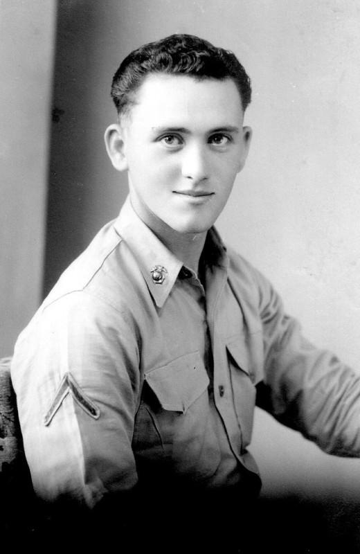 Richard Harrill, serving in Japan, 1953