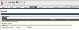 Option WebTrader View