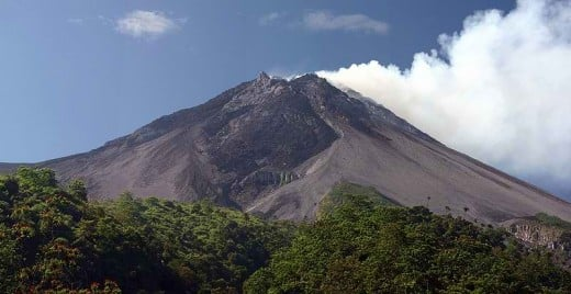 Mount Merapi in Java, Indonesia