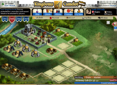 Kingdoms of Camelot screenshot 1