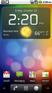Fancy Widget at the top