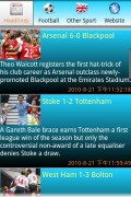Unofficial BBC Sport app for Android. Features great easy to navigate menus that load up fast.