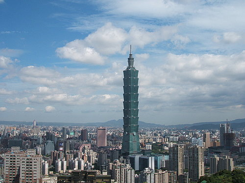 Taipei 101, formerly the world's tallest building. Taipei.