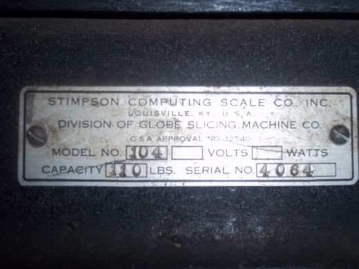 Kraftco - Nameplate Antique Scale