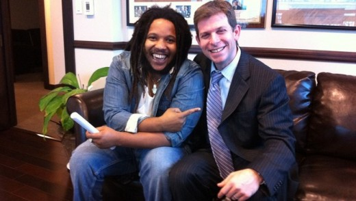 Buju's Attorney David Marcus and friend  Stephen Marley waiting on Buju's release