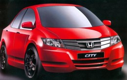 New Honda City I-vtec 2011 car model- Bright Red Color