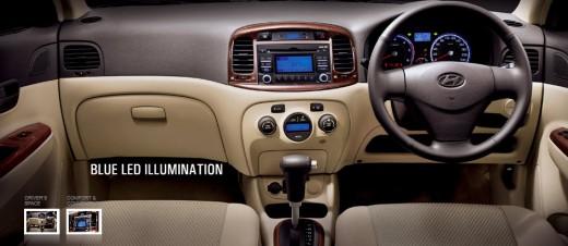 Hyundai Verna Transform Dashboard steering, stereo display