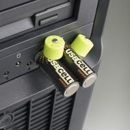 USB batteries charging in a USB port