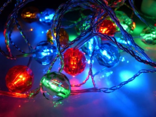 Crystal Multi Color LED String Lights; LED Christmas lights; Indoor/Outdoor party lights