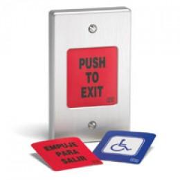 International Electronics fully weatherproof exit pushbutton