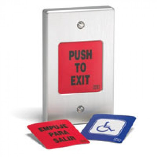 International Electronics fully weatherproof exit pushbutton