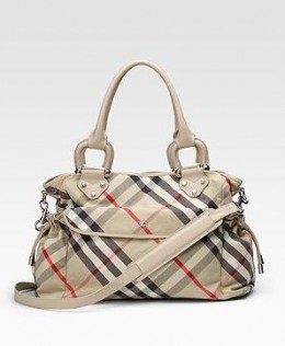 You've finally gotten your own Burberry diaper bag.