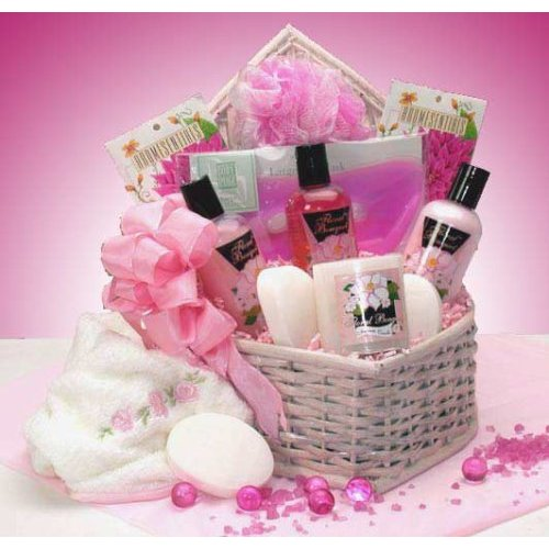 Pretty in Pink Spa Gift Basket for Women
