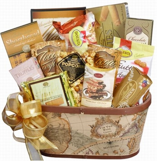 Art of Appreciation Old World Charm Gourmet Food and Snacks Gift Basket