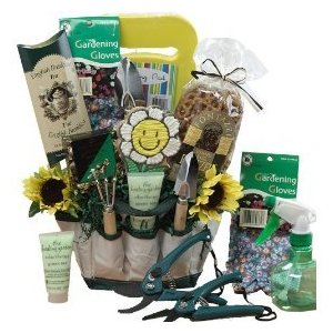 Garden Lovers Gift Tote of Tools and Treats - A Great Gift For Idea for Her!