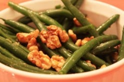 String Beans With Shallots and Walnuts