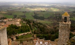 View of San Gimignano, Tuscany, from one of its many towers. Photo by Alaskan Dude (flickr)