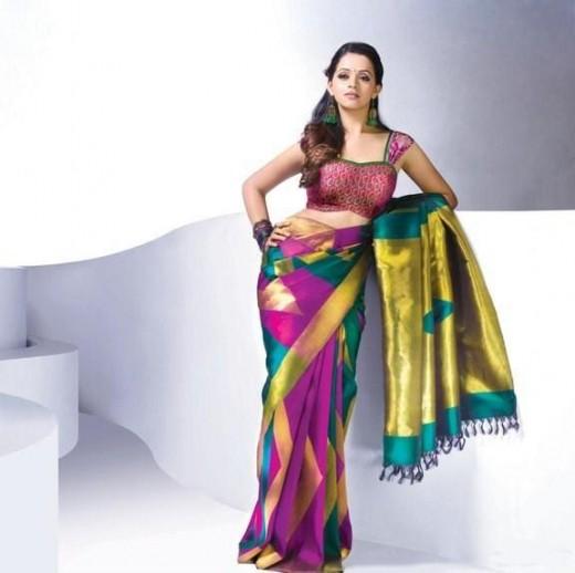 Bhavana Hot Saree