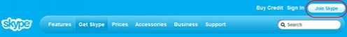 Diagram 1. The Skype Join In button
