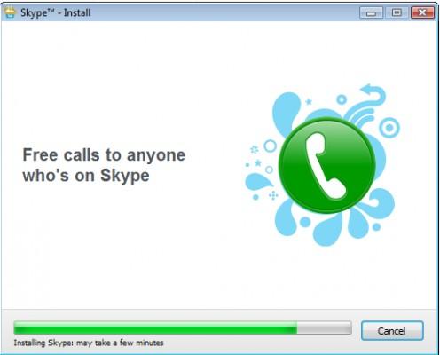 Diagram 8. Skype's installation in progress
