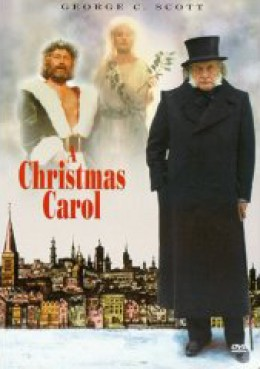 "A poster of George C. Scott's ""A Christmas Carol"""