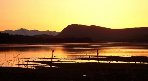 Sunset at Gastineau Channel  Juneau, AK
