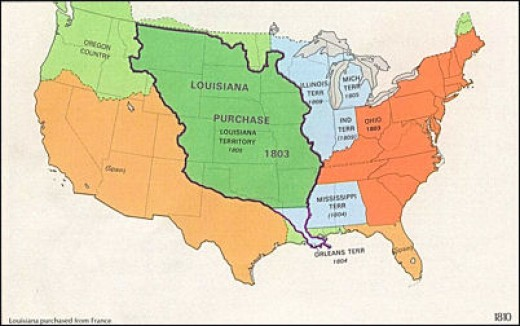 map of louisiana purchase 1803. 1803 : the Louisiana Purchase