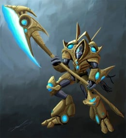 Starcraft 2 Protoss Hero by ProlificPen, from 50 Game Concept Art