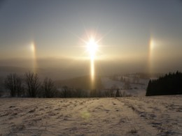 Look carefully at this sun dog image and you will find three crosses. Here is another link between myth, history and sky.