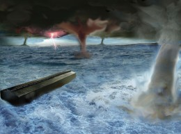 We now know that great catastrophes are a fact of life on earth and the account of Noah's flood has a basis in fact. Catastrophes can come from the sky or from under our feet.