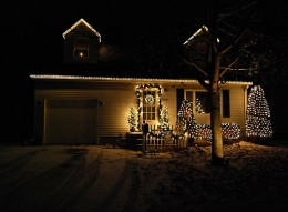Outside Christmas lights can be simple, but still stunning.