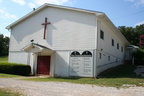 One of several churches here in my town.