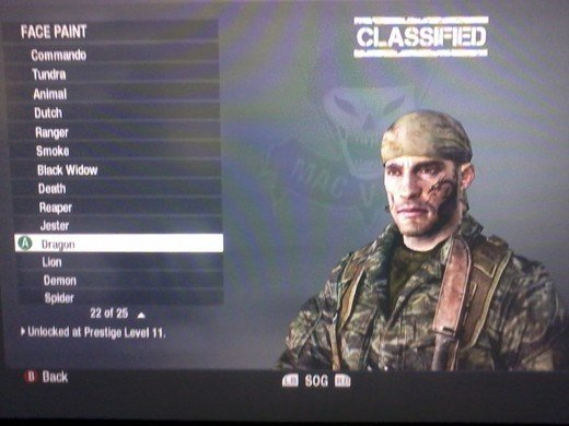 Call of Duty: Black Ops Prestige Call of Duty Black Ops Classified Face Call