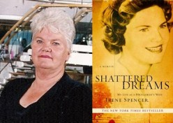 Left: Author Irene Spencer Right: Cover of Shattered Dreams