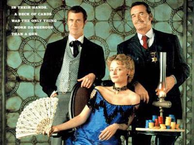 Maverick (1994) starring Mel Gibson, Jodie Foster, James Garner.