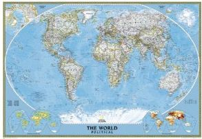 World Classic Wall Map