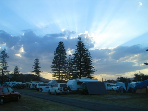 Sunset over crescent head Camp Ground
