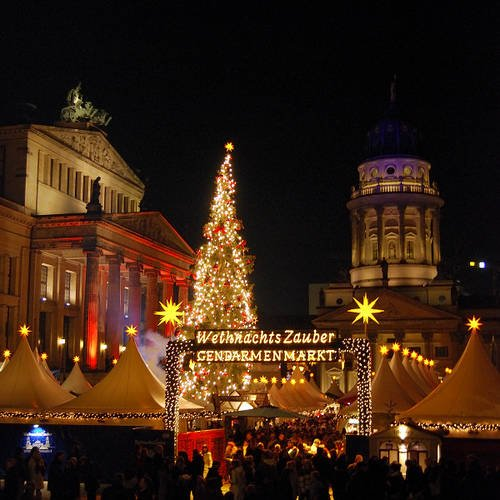 Entrance to the historic Christmas Market of Berlin.