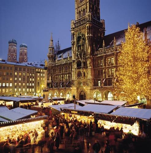 Christmas Market of Munich, in front of the Munich Town Hall.