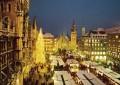 Christmas Market of Munich at Marienplatz.