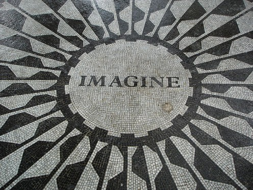 Strawberry Fields in Central Park, New York