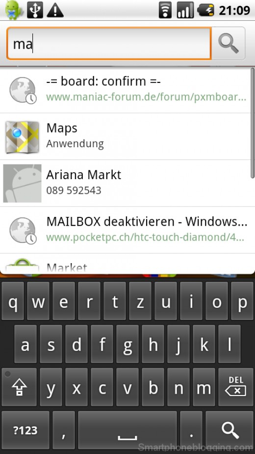 Search Box on Android
