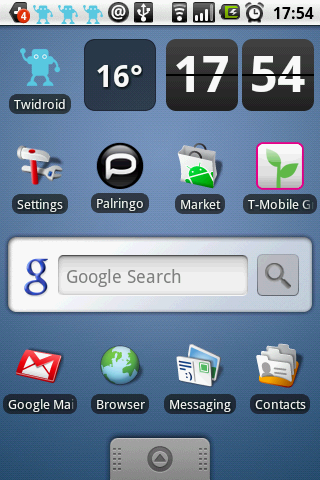 Many small icons and widgets