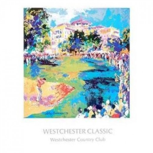 Westchester Golf by LeRoy Neiman. CANVAS WITH BRUSHSTROKES with 1 1/2 inch bars. 19.98 inches width by 20.45 inches height. Highest Quality Art Poster Print