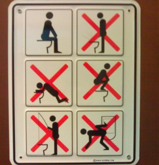 Please remember your toilet manners men!