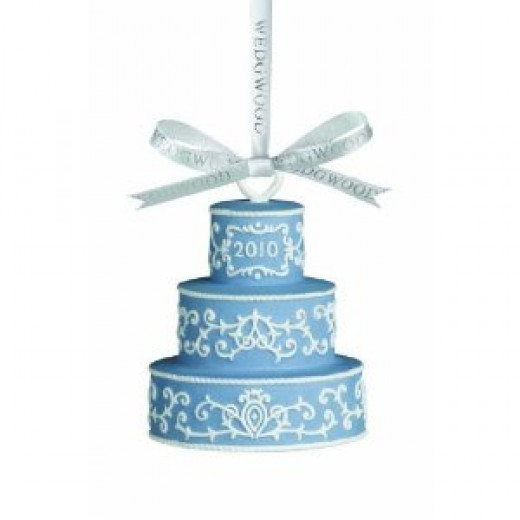 The gorgeous ornament is from Wedgewood.  I think it could also make a great table decoration at a wedding for how about a baby shower?